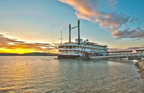 The Branson Showboat Belle while on cruise